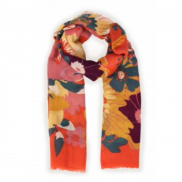 "Schal ""Modern Floral"" (Orange) von Powder"