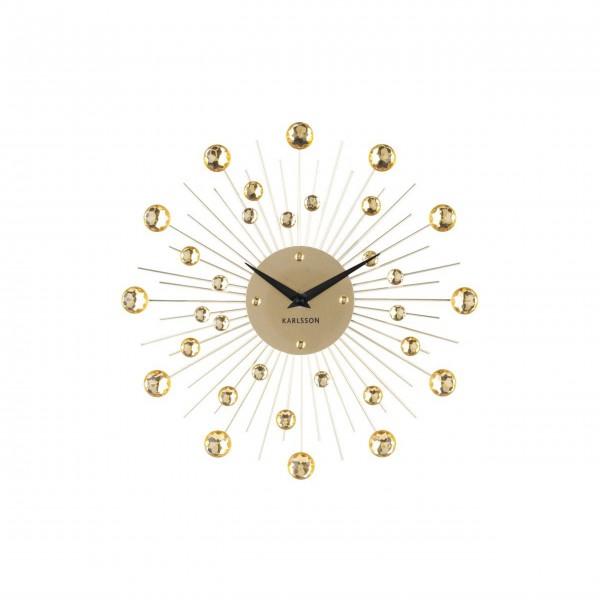 """Present Time Wanduhr """"Sunburst"""" (Gold) medium"""