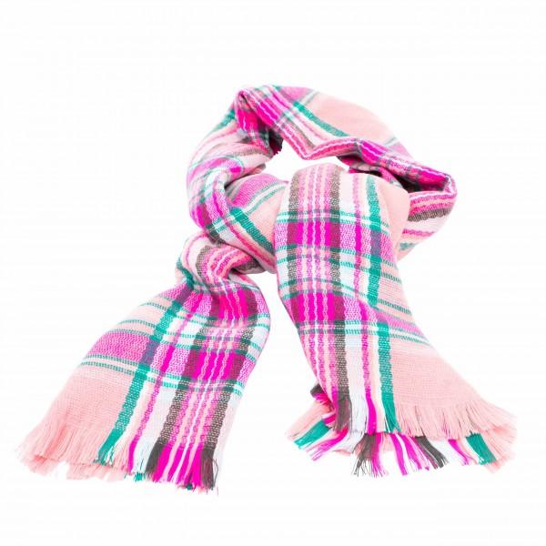 """rice Schal """"Tartan Pattern"""" (Dusty Pink)"""