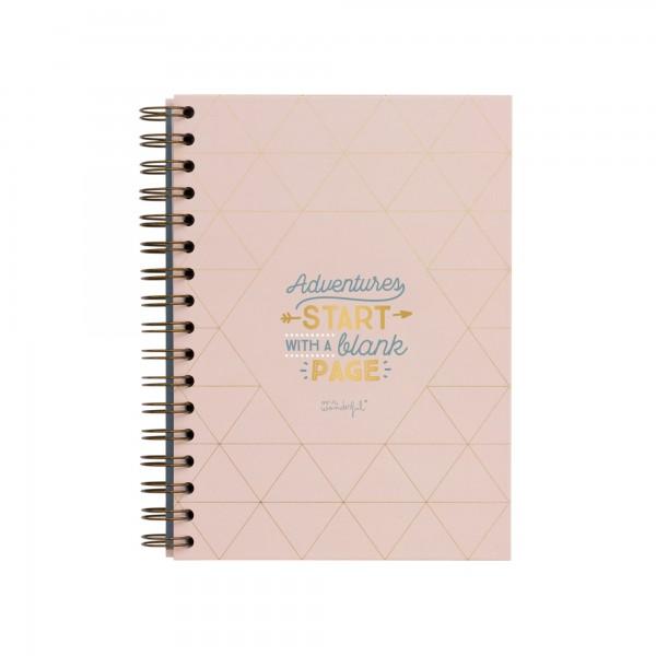 """Notizbuch """"Adventures start with a blank page"""" von mr. wonderful*"""
