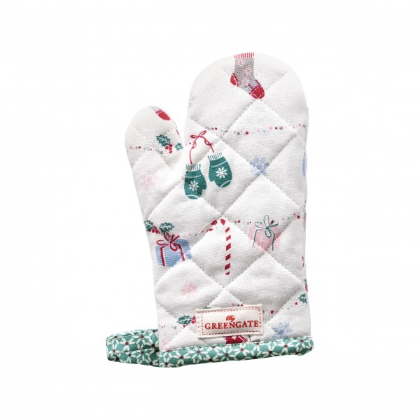 "GreenGate Kinder-Grillhandschuh ""Jingle Bell"" (White)"