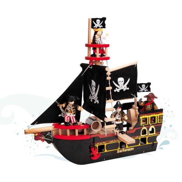 """Piratenschiff aus Holz """"Barbarossa"""""""