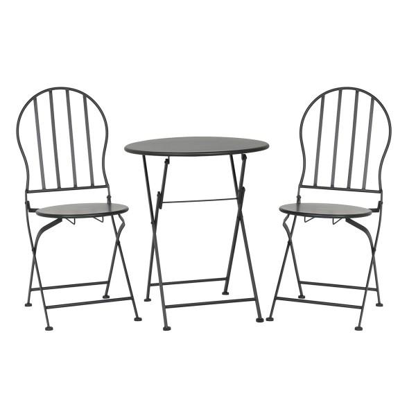 Bistrotisch Mit Stühlen laursen bistro set tisch stühle schwarz