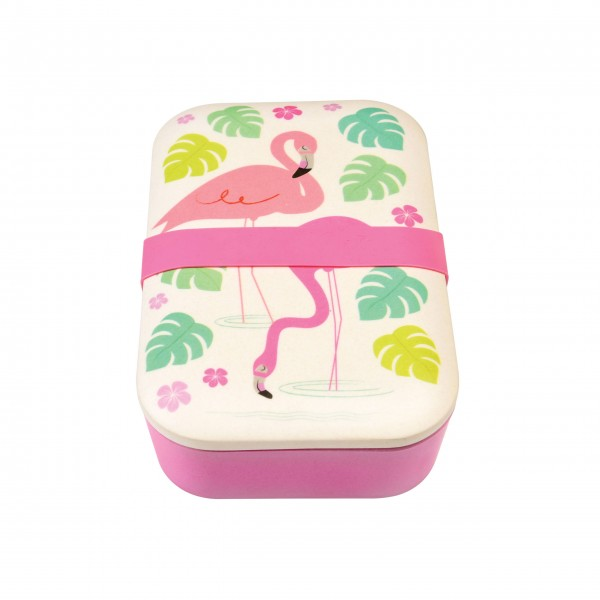 Rosane Flamingo-Lunchbox für Unterwegs