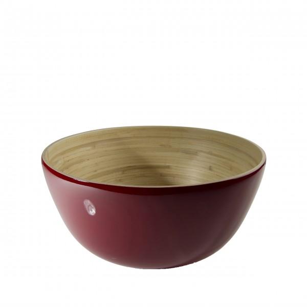 "bibol Salatschüssel aus Bambus ""TCHON"" - XL (Cerise)"