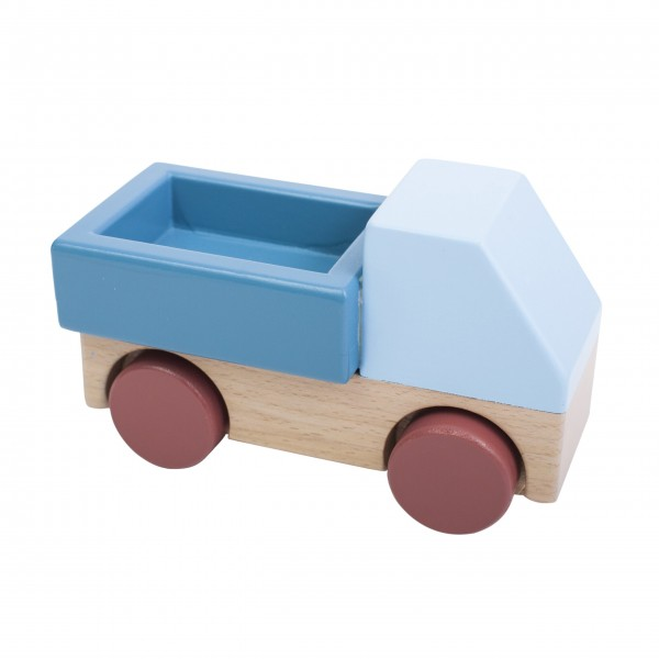 Wagen aus Holz - Blau von Sebra