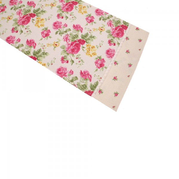 "Country Home Style Läufer ""New Roses"" (rosa/gelb) 40x150cm"
