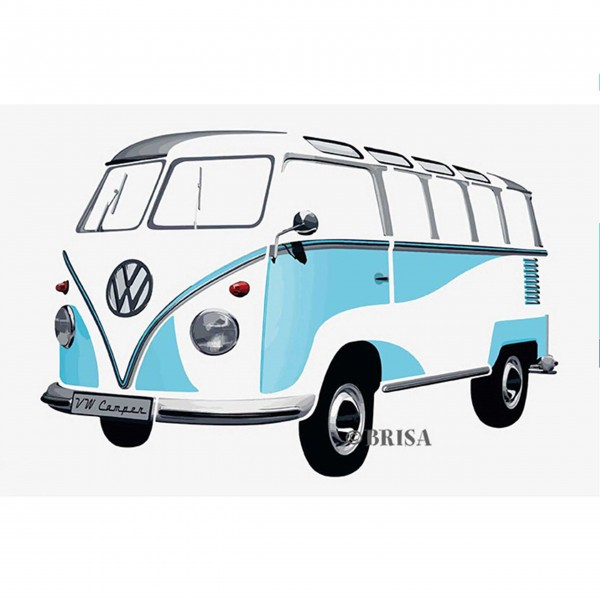 vw bus wandsticker t1 bulli t rkis. Black Bedroom Furniture Sets. Home Design Ideas