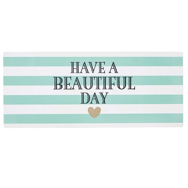 "Miss Étoile Metallschild ""Have a beautiful Day"""