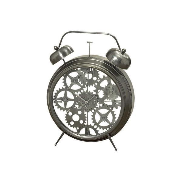 Große Uhr im Wecker-Design - schön für Wohn- und Schlafzimmer