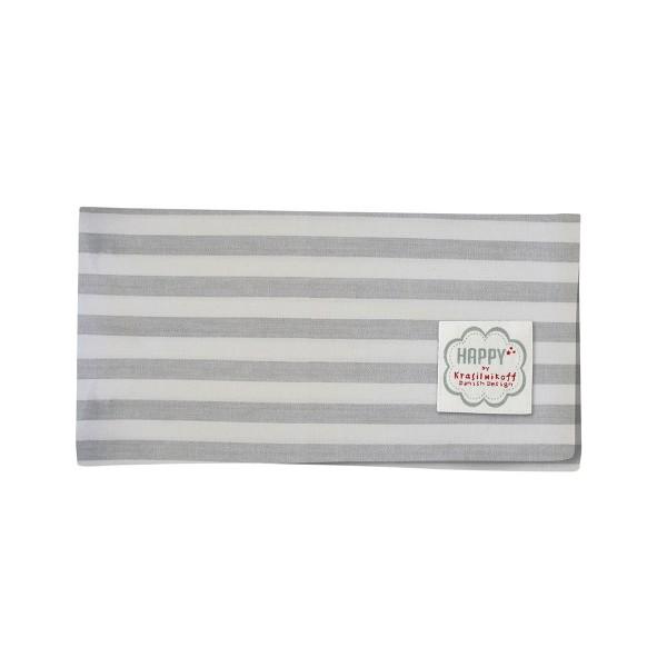 Krasilnikoff Stoffserviette Stripe (Grau)