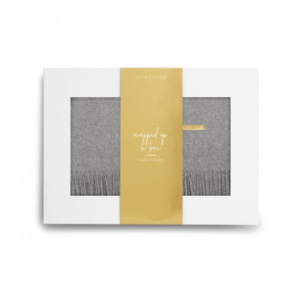 "Schal in Geschenkbox ""Wrapped up in Love"" (Grau) von KATIE LOXTON"