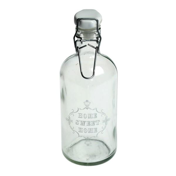 Glasflasche im Vintage-Look