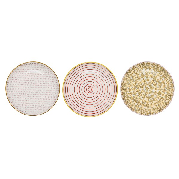 Kleine Keramikteller im 3er-Set