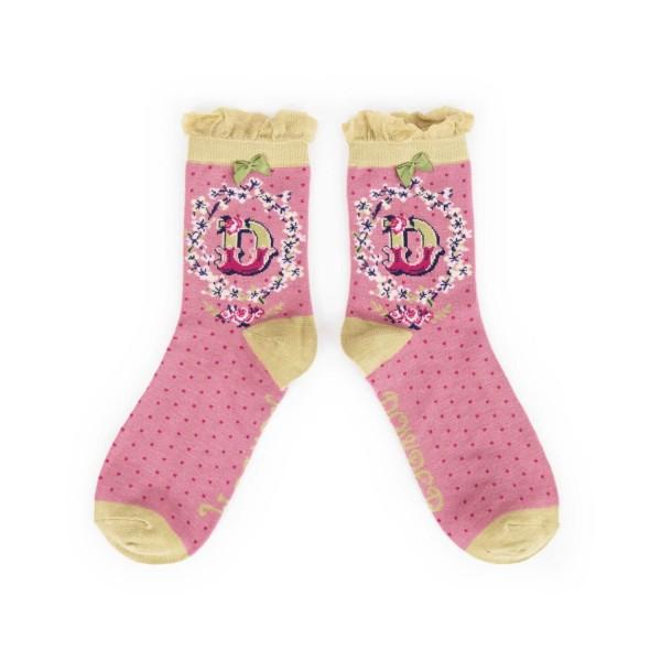 "Powder Damen Socken ""A-Z"" - Buchstabe D"
