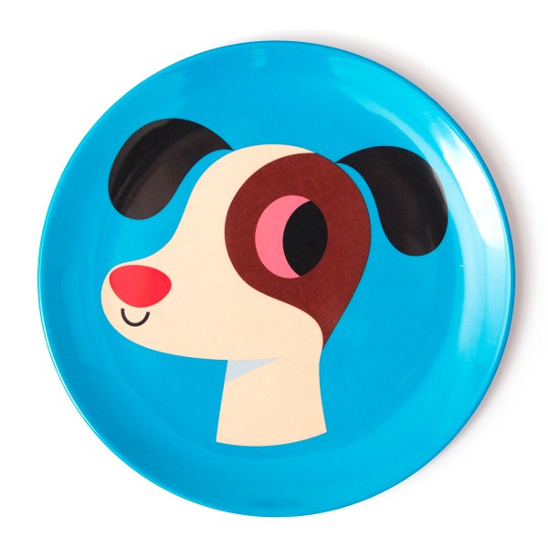 Toller Melaminteller für Kids - OMM design (blau)