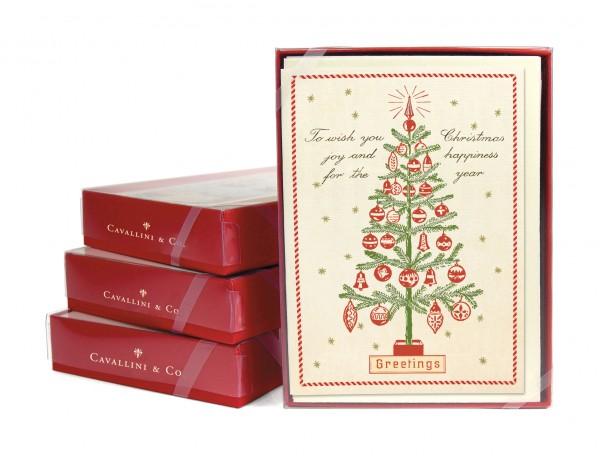 """Cavallini Weihnachtskarten """"Christmas Trees"""""""