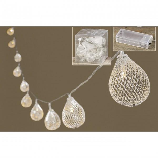 """LED-Lichterkette """"Gitterballs"""" (Silber)"""