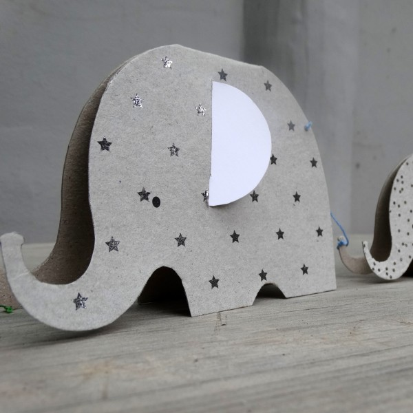 """Girlande """"Elefanten"""" (Grau) von Good old friends."""
