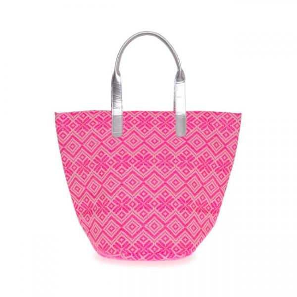 """Pretty in Pink - die Umhängetasche aus Leder """"Jacquard"""" (Pink) von Nicole Pietag"""