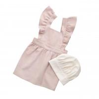 Kinderschürze mit Kochmütze (Pink/Weiß) von sebra
