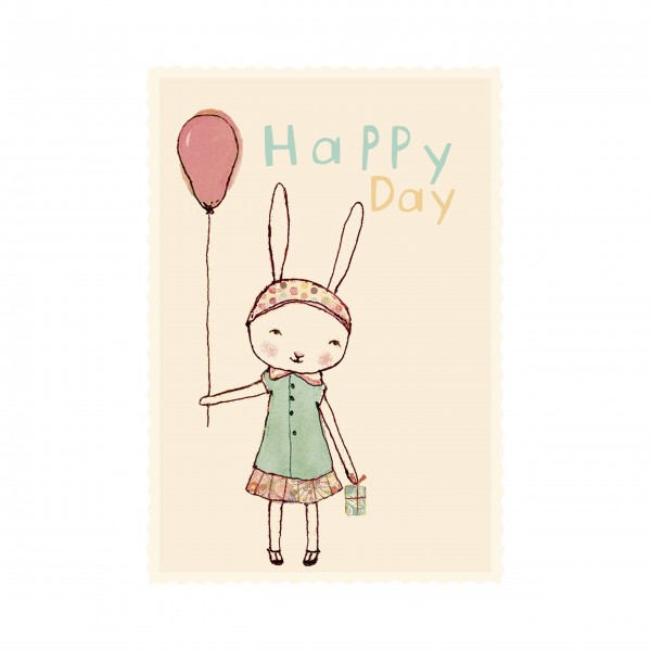 """Mailleg """"Happy Day"""" Geburtstagskarte Mädchen"""