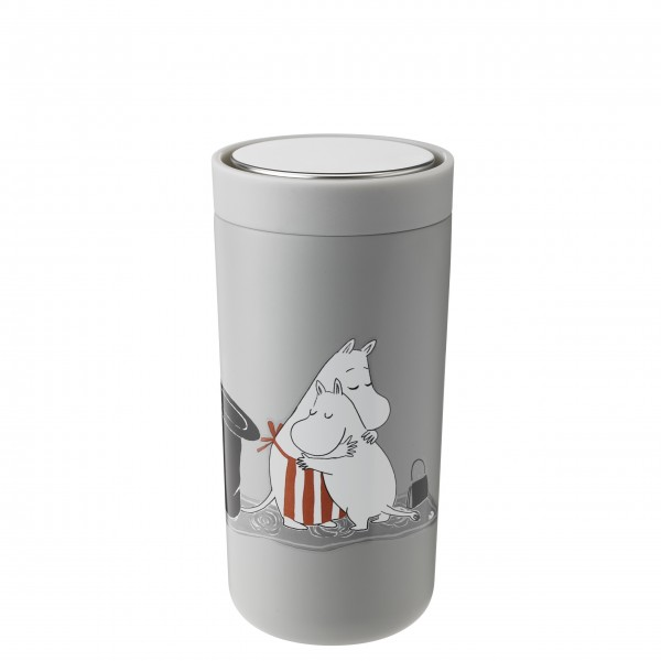 "Stelton Thermobecher ""To-Go Click"" - 400 ml (Hellgrau Moomin)"