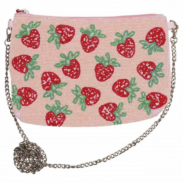 Mit Perlen aufgestickte Erdbeeren - coole Handtasche von GreenGate