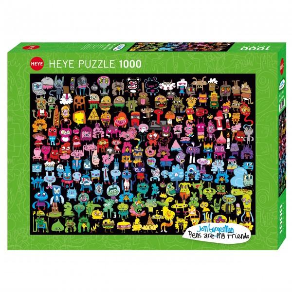 """Puzzle """"Doodle Rainbow"""" von HEYE"""