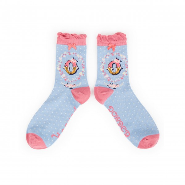 "Powder Damen Socken ""A-Z"" - Buchstabe O"