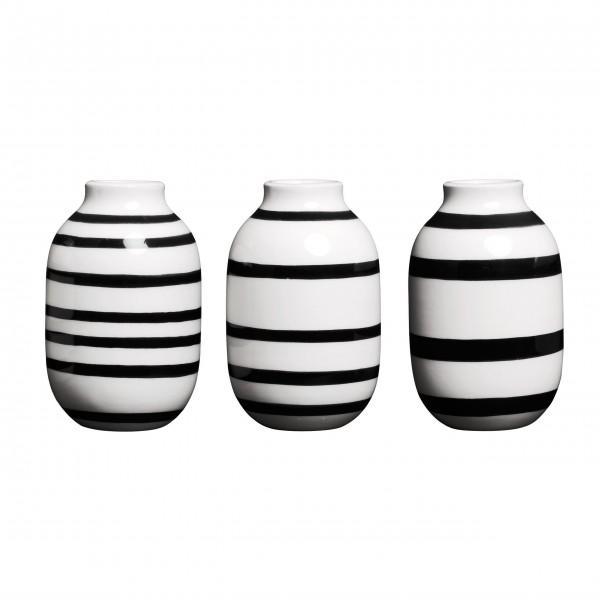 """Kähler Vase """"Omaggio"""" (Schwarz) im 3er-Set"""