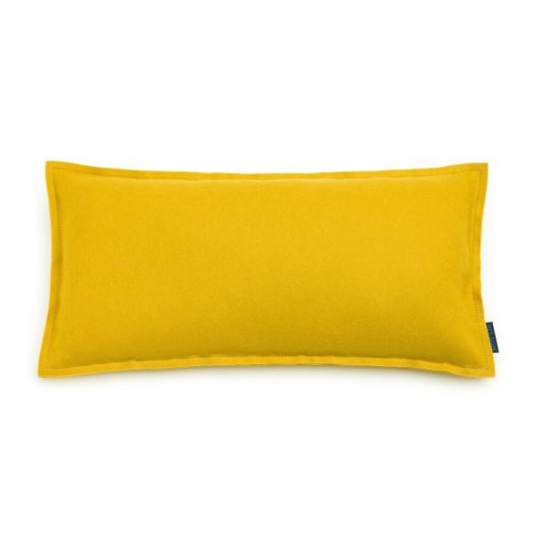 """Filz-Kissen """"Uno"""" - 60x30 cm (Gelb/Curry) von HEY-SIGN"""