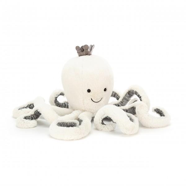 "Jellycat Oktopus ""Cosmo"" - groß (Weiß/Silber)"
