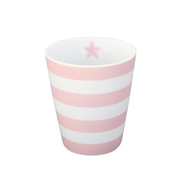 "Krasilnikoff - Happy Mug ""Stripes"" (Rosa)"