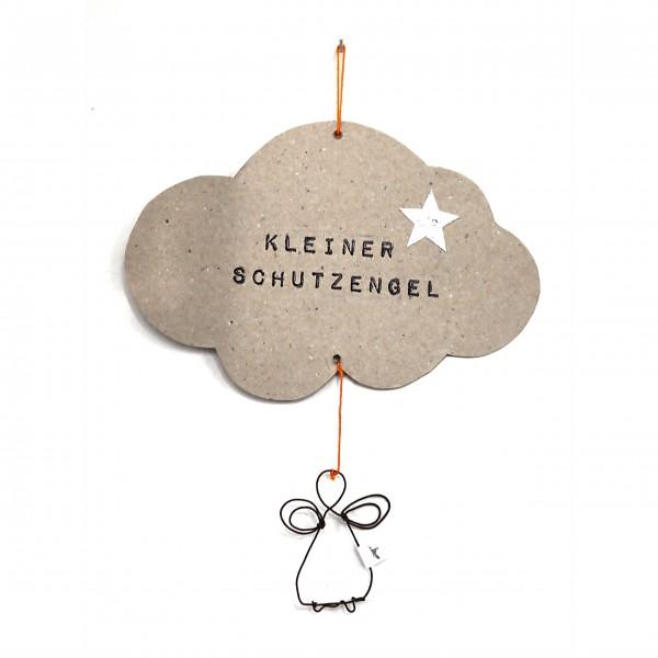 """Grußkarte zum Aufhängen """"Kleiner Schutzengel"""" von Good old friends."""