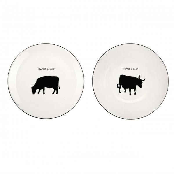 """Büffel und Kuh: Das Käseteller-Set """"Fromage"""" von ASA"""