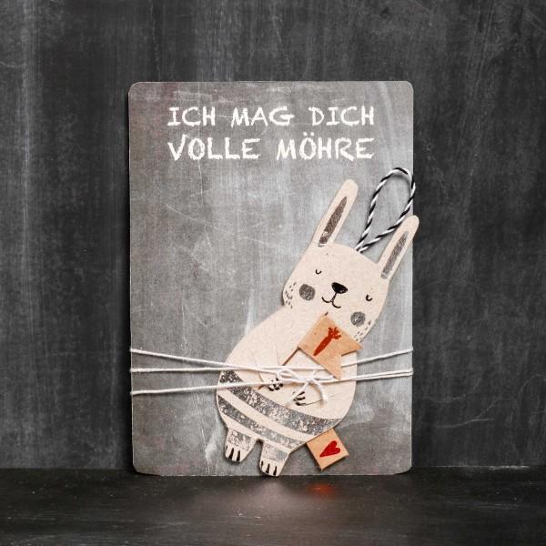 """Grußkarte Ostern """"Lieblingshasen - Fahne"""" von Good old friends."""