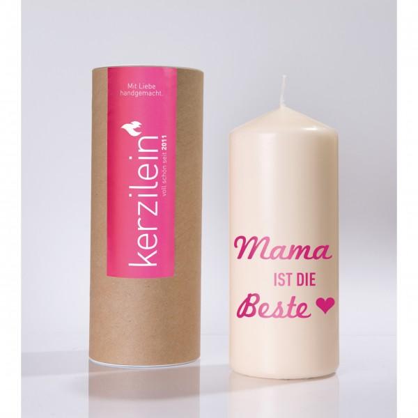 """Kerze """"Mama ist die Beste"""" (Pink)"""