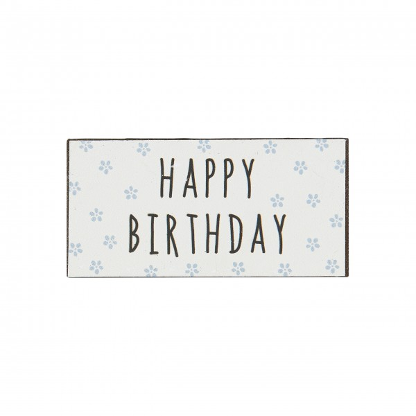 "Ib Laursen Magnet ""Happy Birthday"" (Blau)"