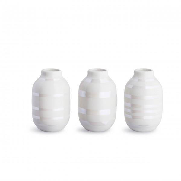 """Kähler Vase im 3er-Set """"Omaggio"""" (Perlmutt)"""