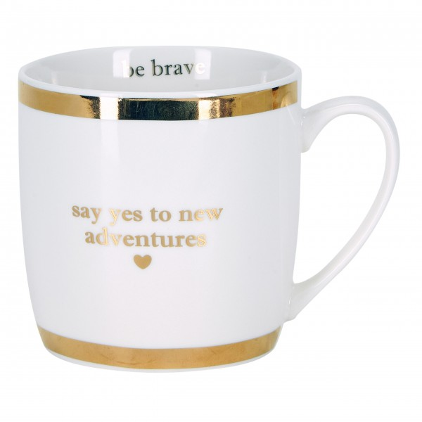 "Miss Étoile Kaffetasse ""Say yes to new adventures"" (Weiß)"