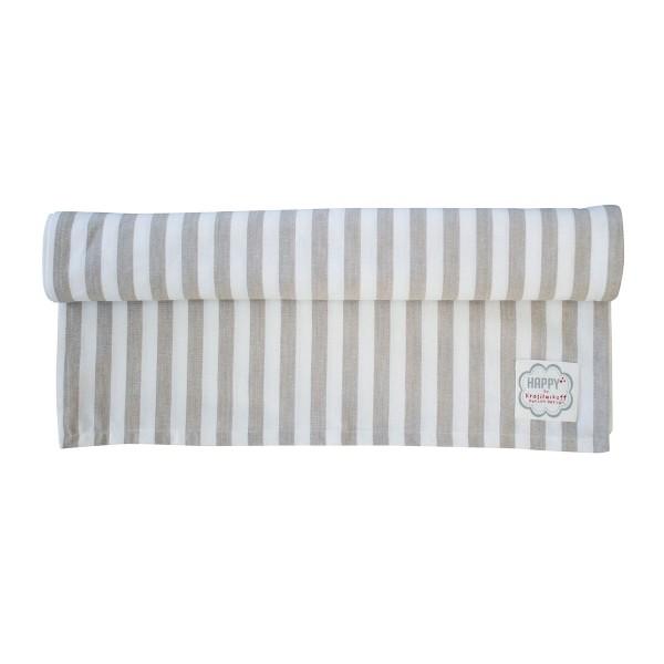 """Krasilnikoff - Tischläufer """"Stripes"""" (Taupe)"""