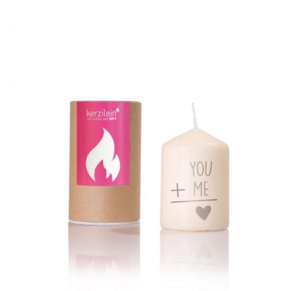 Du & ich - Kerze von Kerzilein