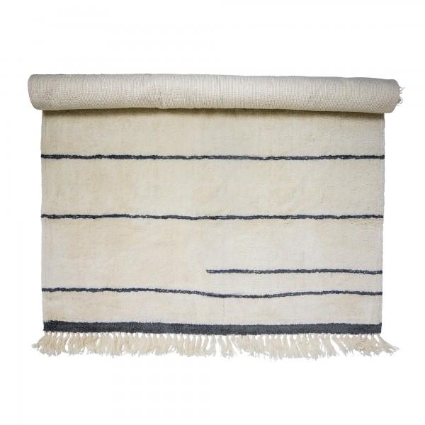 Bloomingville Teppich aus Wolle (Braun/Weiß)