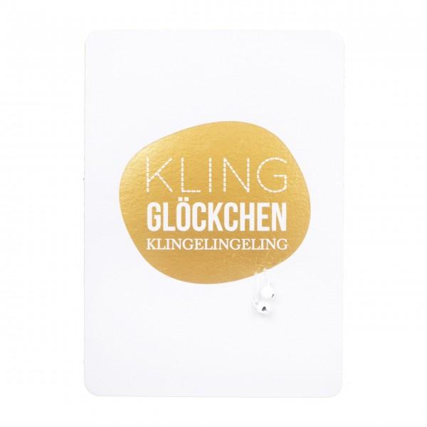 """Weihnachtskarte """"Kling Glöckchen"""" von räder Design"""