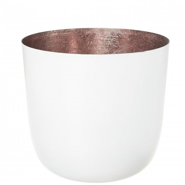 "Gift Company Windlicht ""Madras"" - L (Weiß/Rosé)"