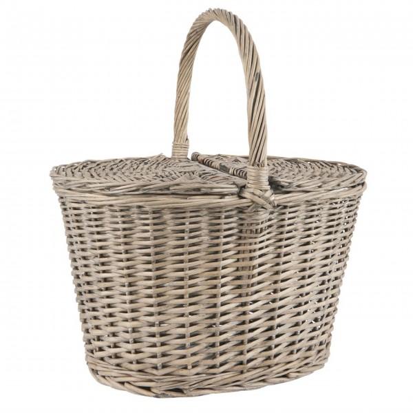 Ib Laursen Ovaler Picknickkorb m/Deckel