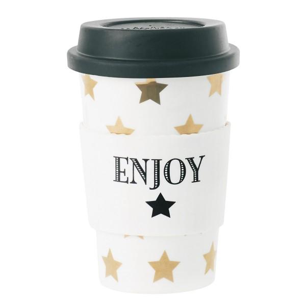 Zauberhafter Sternen-Look zum Mitnehmen - Lattebecher to go von Miss Étoile