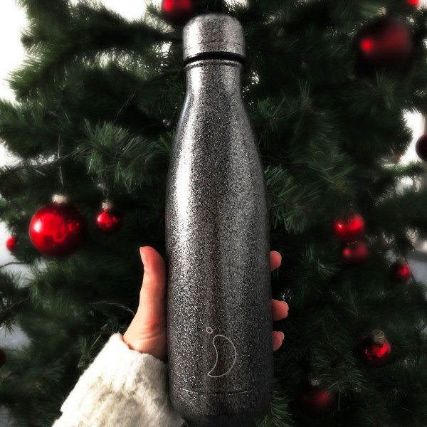 "CHILLY'S Bottle Isolierflasche ""Glitter Black"" - 500 ml"