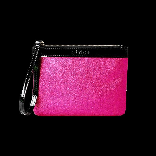 """rice Clutch """"Glitter"""" (Pink)"""